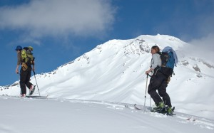 Backcountry skiing Mt. Shasta