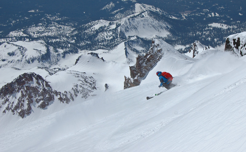 Chris Davenport skis Mt. Shasta