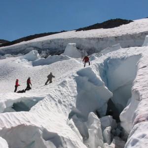 Glacier Travel Skills on the Chicago Glacier, Mt. Shasta