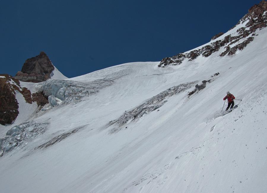 Mt. Shasta Konwakiton Glacier Ski Descent