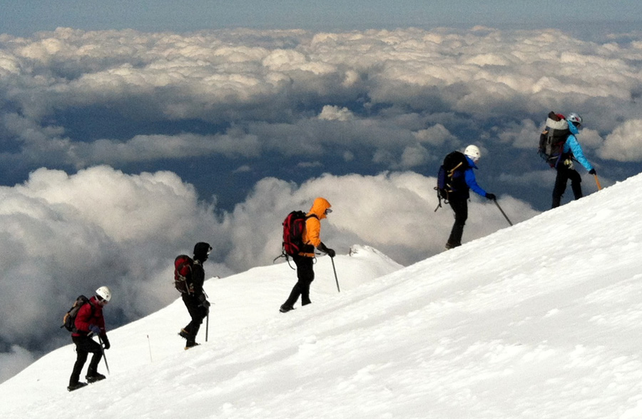 Above the clouds on Misery Hill