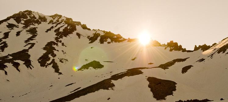 Sunrise over Casaval Ridge Mt. Shasta