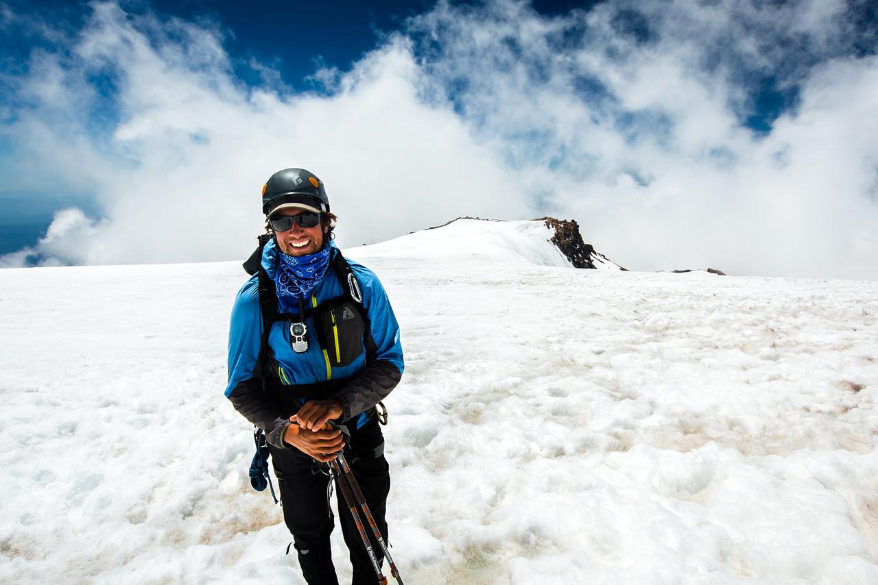 Greg Cunningham Mt. Shasta summit plateau