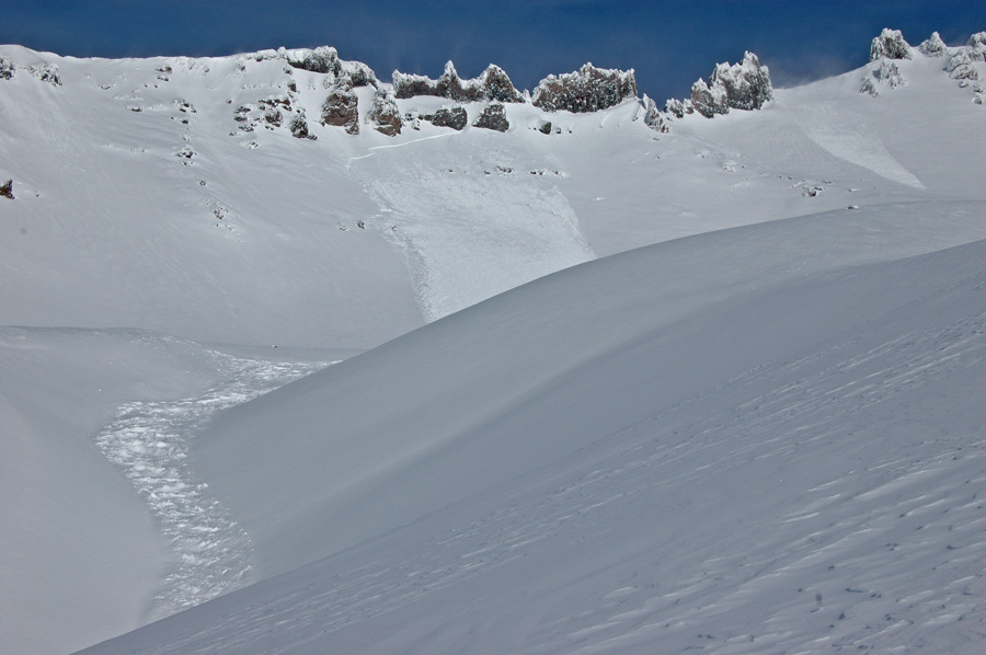 avalanche activity in Avalanche Gulch