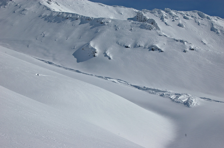 avalanche debris in Avalanche Gulch