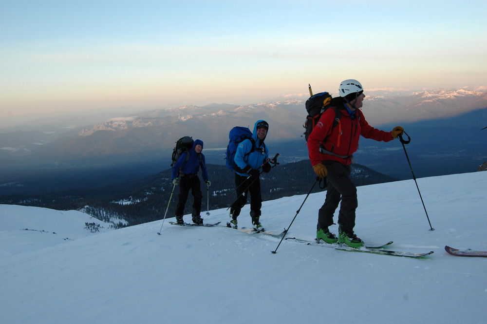 Backcountry skiing and alpine starts