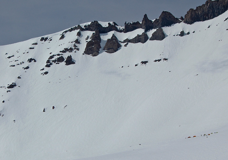 High camp Avalanche Gulch