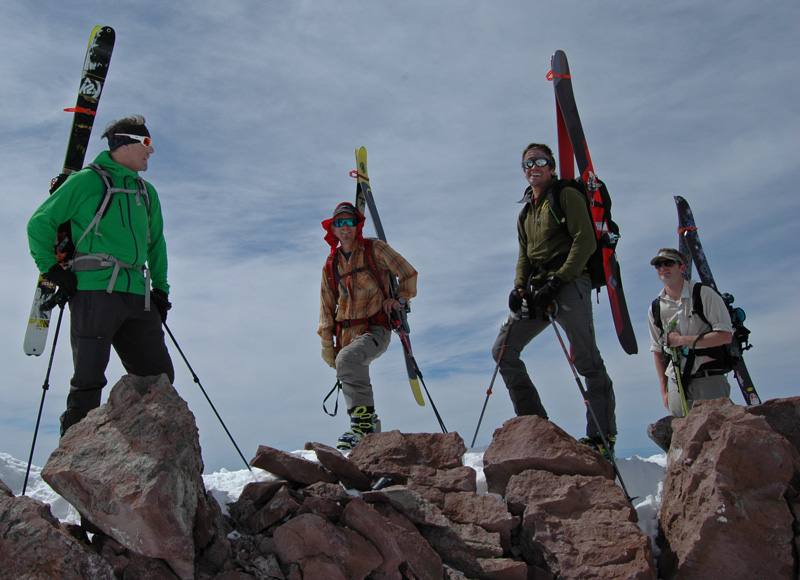 SMG Guide crew on Shastina's summit