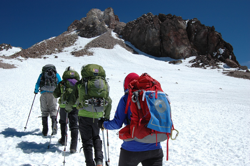 BCF climbers cross the summit plateau