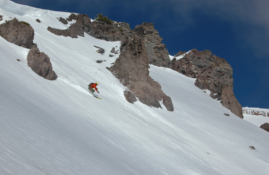 January 2015 skiing Casaval Ridge Mt. Shasta