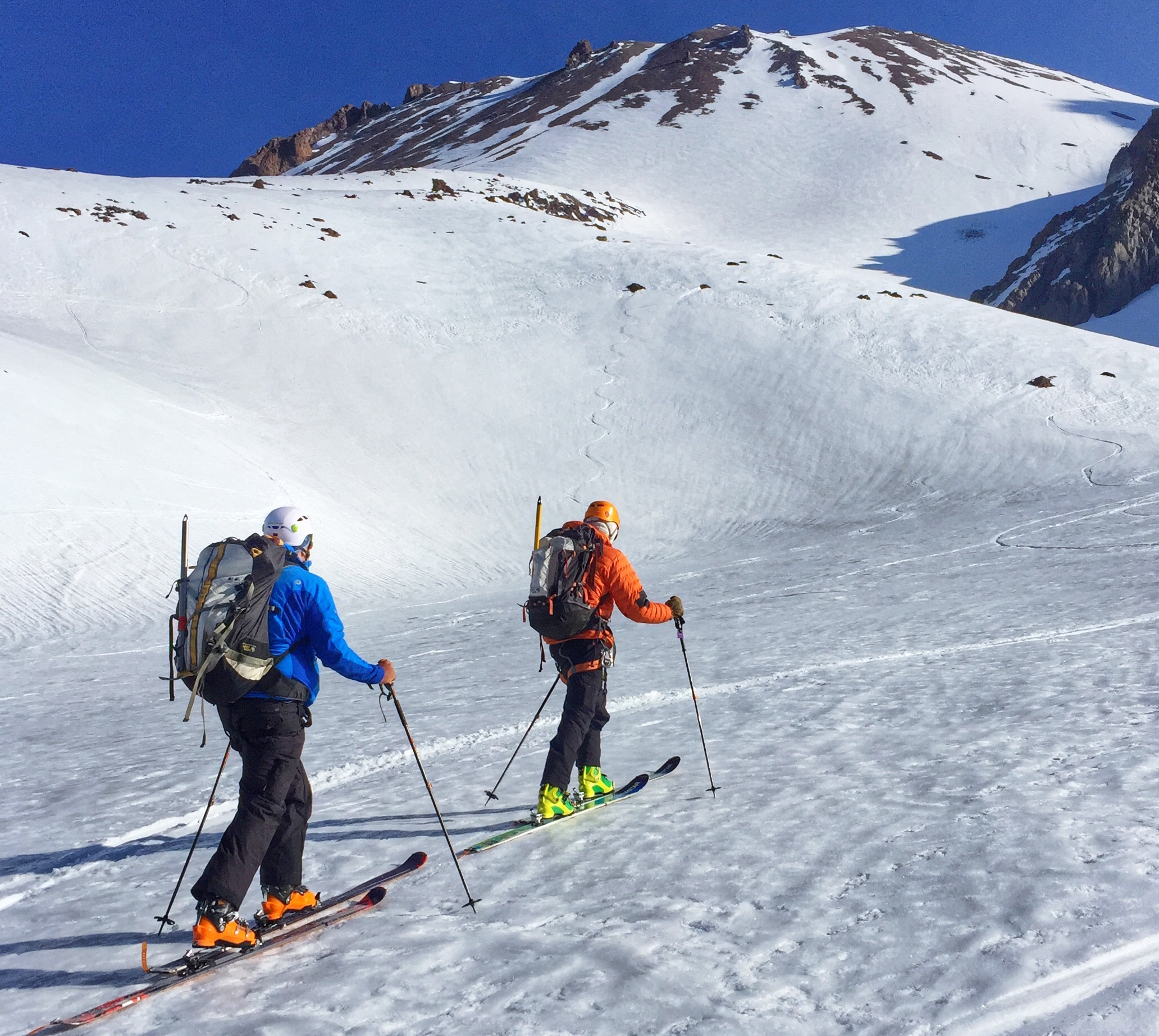 Skinning up Cascade Gulch