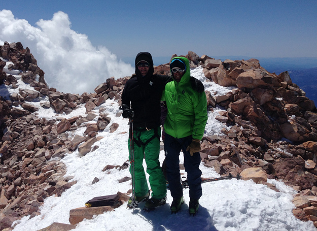 Dan and I on the summit on the fourth and final trip