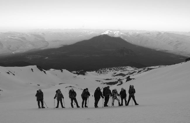 Mt. Shasta shadow West Face  ph: C. Krumholz