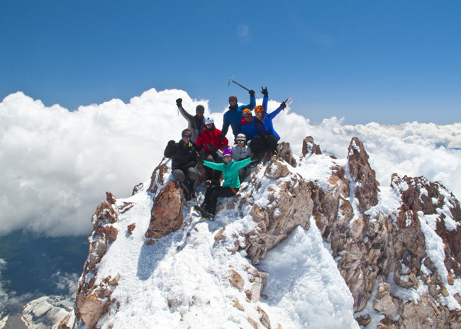 Mt. Shasta summit team May 2015  ph: C. Krumholz