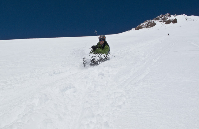 a 4,000' glissade down the West Face of Mt. shasta  ph: C. Krumholz