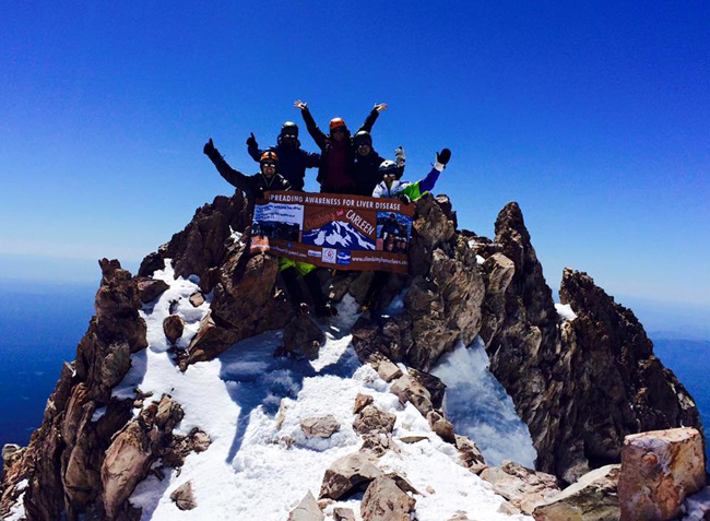 American Liver Foundation on Mt. Shasta's summit