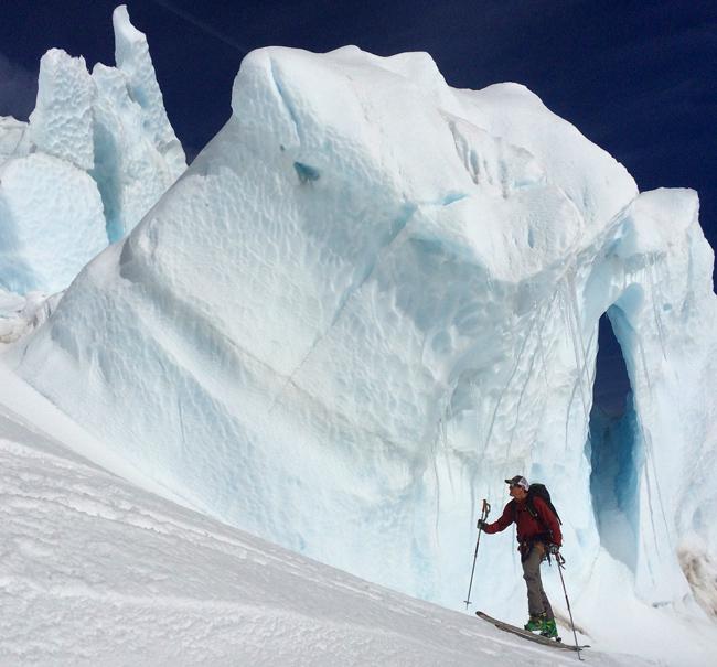 Dane tours up the Hotlum Glacier June 2015
