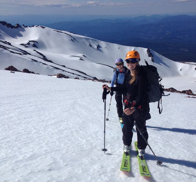 Ski touring from Hidden Valley June 2015  ph: P. Layton