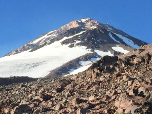 Mt. Shasta Hotlum-Bolam from basecamp  ph: A. Zok