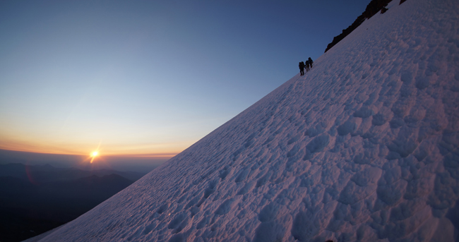Climbing the Hotlum-Bolam Ridge Mt. Shasta ph: MG