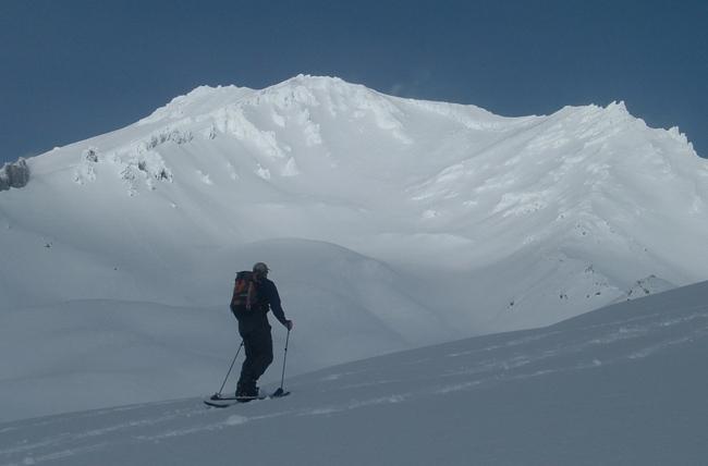 Ski touring Broadway, Mt. Shasta, CA