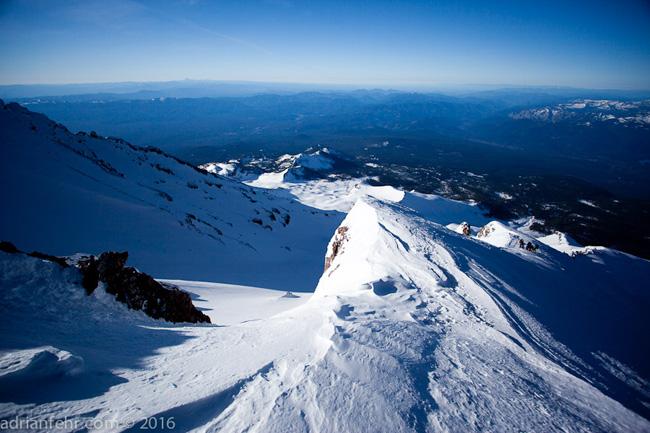 Perfect climbing on Mt. Shasta ph: Adrian Fehr
