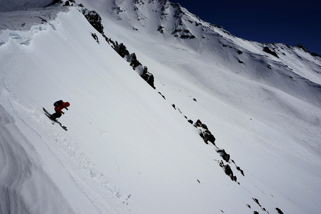 Skiing Casaval Ridge Mt. Shasta, CA