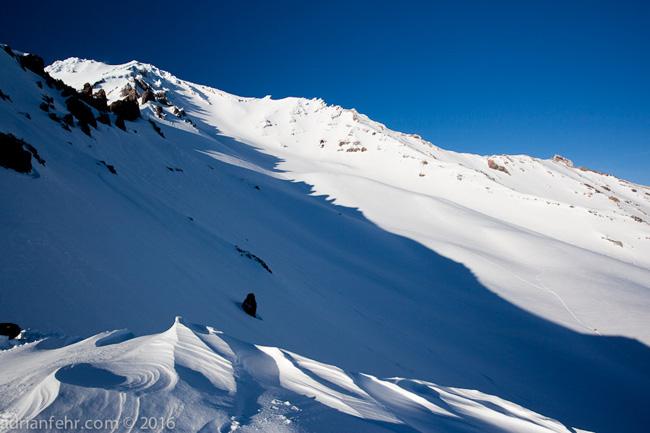 Casaval ridge from basecamp Mt. Shasta. ph: Adrian Fehr