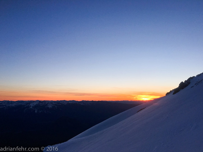 Sunset from Casaval Ridge Mt. Shasta ph: Adrian Fehr