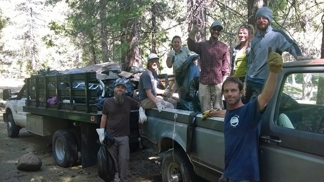 S. Fork Sacramento River Clean Up. SMG guides pulled out a ton of garbage and junk from this pristine watershed