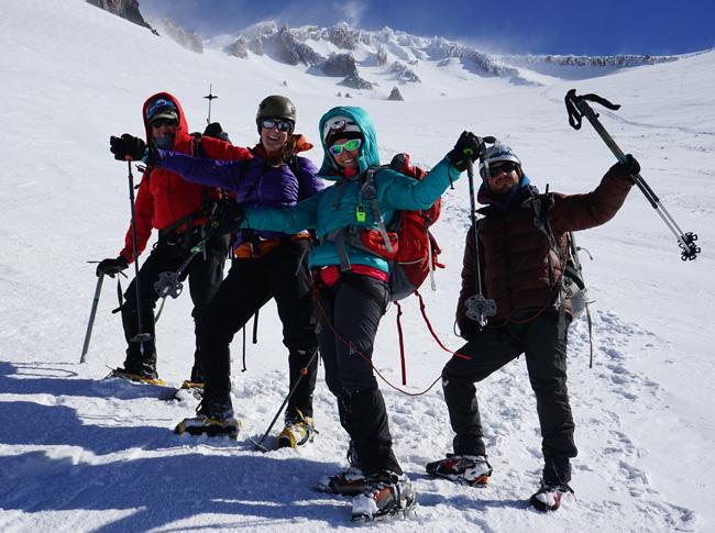 all smiles in Avalanche Gulch Mt. Shasta