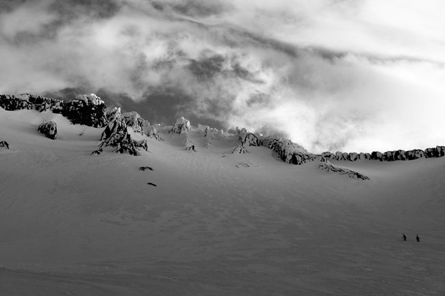 Avalanche Gulch awaits photo: C. Krumholz
