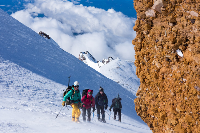 Red Banks climb team Mt. Shasta photo: C. Krumholz