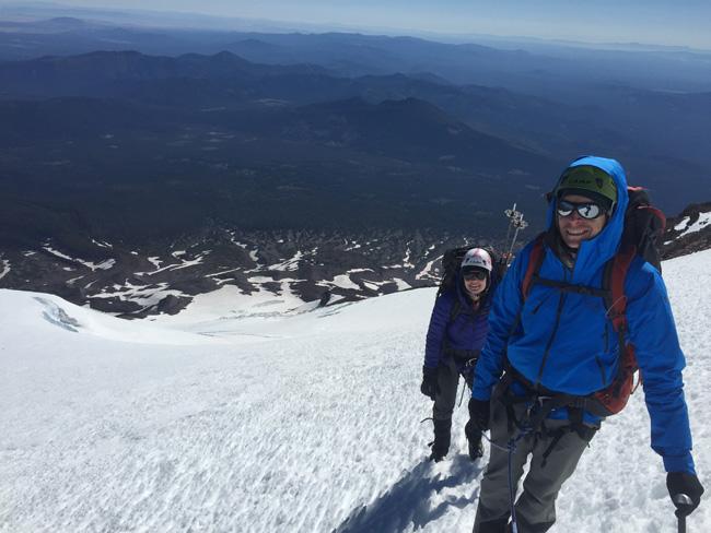 Climbing Hotlum-Bolam Ridge Mt. Shasta