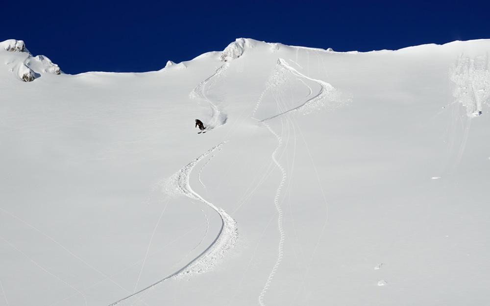 Mt. Shasta backcountrty powder skiing