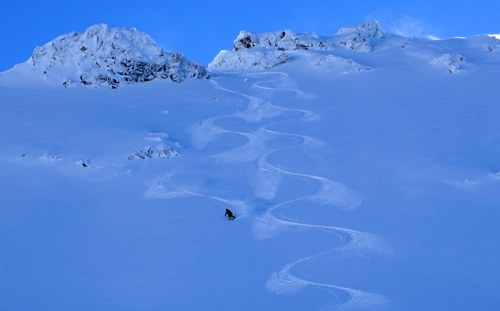 November powder skiing Mt. Shasta, CA