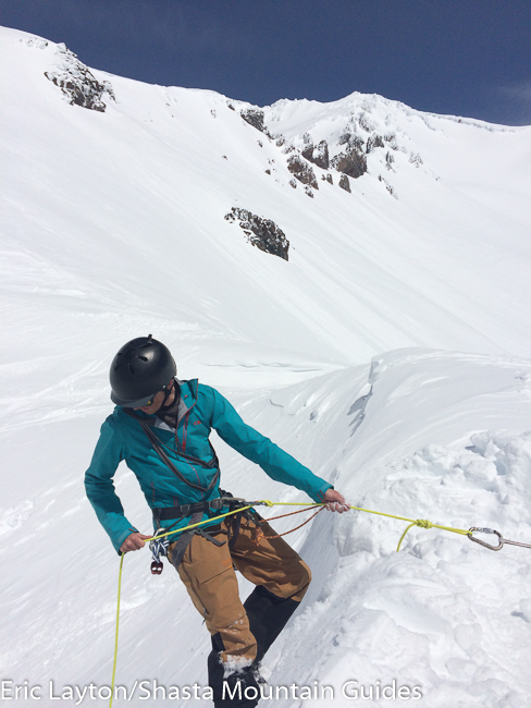 Ski Mountaineering training Mt. Shasta